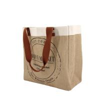 Eco-friendly Hemp Shopping Bag Korean Tote Bag Custom Printed Jute Bags