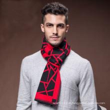 Lenço acrílico tecido de nylon quente do inverno da forma dos homens (YKY4616)