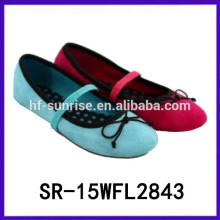 Zapatos planos coreanos vendedores calientes de la muchacha de los zapatos de los zapatos del color del caramelo de 2015 zapatos coreanos de la muchacha