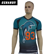100% Polyester Sublimation Cool Dry American Football Jersey, Dolphin Jersey