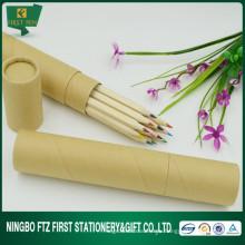 Рекламный экологичный 12 в 1 деревянный набор цветных карандашей