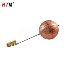 brass float-ball valve with ball
