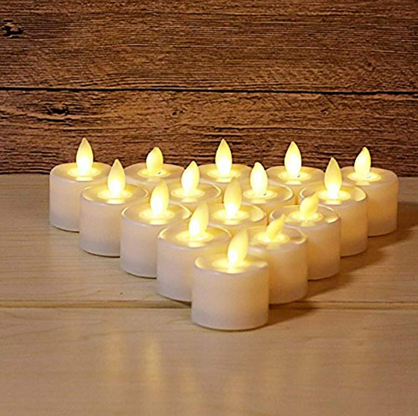 Warm White Led Tealight Candles With Moving 1