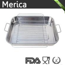 Bandeja de alimentos de acero inoxidable con estante