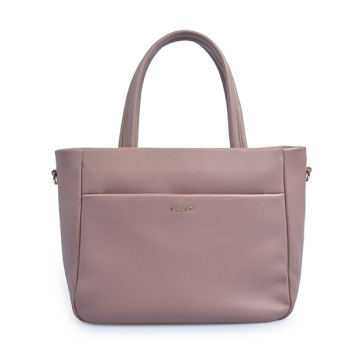 Mercer Pebbled Leather Top Griff Flap Tote Bag
