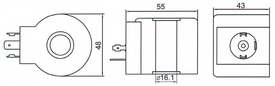 Dimension of BB16143007 Solenoid Coil: