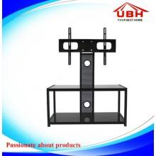 Cadre en acier avec gestion des câbles Stand de télévision en rotation