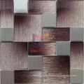 Shaded Glass with Silver Stainless Steel Mosaic (CFM992)