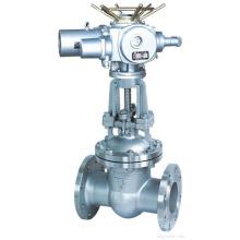 bride de haute qualité de POV relient la valve électrique de porte de fonte