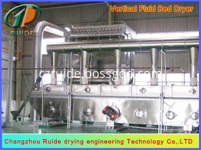 Vibrating fluidized bed dryers for granular tablet