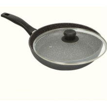 """Marble Nonstick Stone Cookware 11"""" Fry Pan with Lid"""