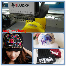 China Shenzhen Elucky high speed two heads embroidery machine for cap embroidery with good quality