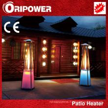 Chauffe-patio à flamme avec lumières LED