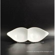 2 Gitter mexikanischer Markt Porzellan Teller