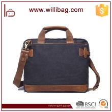 Saco do mensageiro do vintage bolsa de negócios Saco de negócios mochila maleta para o homem