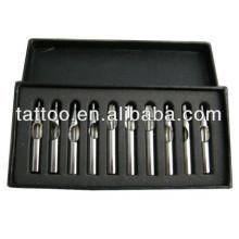 Vente chaude en acier inoxydable Set Style tatouage aiguille pointe Hb514