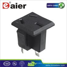 3 agujeros 15A enchufe eléctrico de 250VAC / zócalo de la CA / conector de zócalo de la corriente ALTERNA