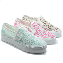 Screen Cloth Flower Rubber School Men Ladies Elevator Shoes