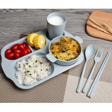 Набор детской посуды из 6 штук ПП из пшеничной соломы