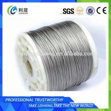 Cuerda de alambre de acero inoxidable 1x19 o cables