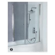 Puerta de ducha acrílica de vidrio templado
