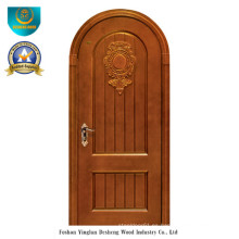 Puerta de madera maciza de estilo clásico para exteriores con talla (ds-036)