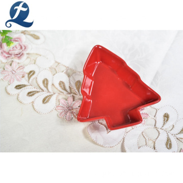 Chaozhou Christmas Decoration Ceramic Catering Platos de servicio