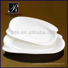 Fábrica da porcelana de P & T, placas retangulares duráveis, placas da carne da porcelana