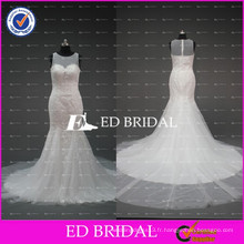 Robe de mariée en mousseline de soie en dentelle nuptiale en mousseline de soie nuptiale