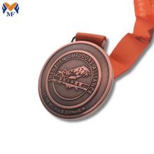 Médaille de karaté de course d'emboutissage personnalisé en métal