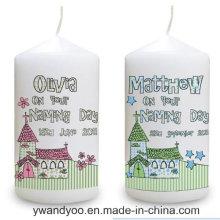 Bougie décorative au pagne de soja parfumée