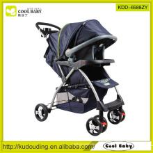 Fábrica Carrinho de bebê novo pode ser usado com Carseat ajustável Almofada Stroller altura 2 a 1 com assento de carro