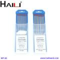 HAILI Électrode de tungstène thoriée WT20 10 Pack 2.4MMX175MM