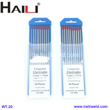 HAILI Thoriated Wolfram-Elektrode WT20 10er Pack 2,4MMX175MM