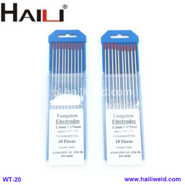 HAILI Thoriated Tungsten Electrode WT20 10 Pack 2.4MMX175MM
