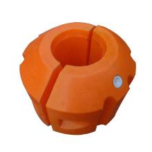 Pontón de dragado flotante de plástico con accesorios fijos
