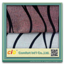 Chenille Flock tecido de sofá jacquard