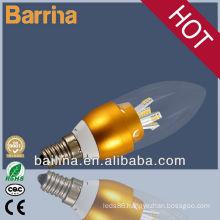 2013 hot sale candle light led bulb 3W 4W