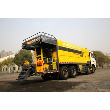 Binder Fiber Slurry Micro Surfacing Paver
