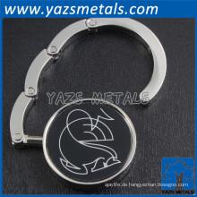Förderung Metall benutzerdefinierte Logo Geldbörse Kleiderbügel Haken