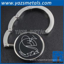 promotion metal custom logo purse hanger hook