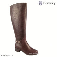 5cm High Heel Guangzhou Shoes Factory Women Winter Boots Large Size