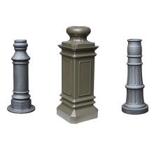 Lamp aluminum sand casting light pole base and permanent mold casting aluminum parts bollard light outdoor