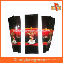 250g,500g,1kg plastic coffee bean packaging bags with side gusset