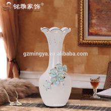 Long flower ceramic pottery,home decorative white vase antique white ceramic flower vases