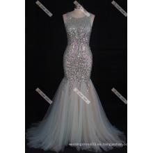 Sexy rebordeado sirena vestido de fiesta vestido de noche real foto piso vestido de noche de longitud