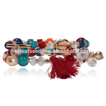 Top marque personnalisée vogue amitié cadeau Bouddha perlé bracelet bracelet en verre