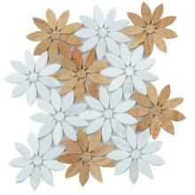 Floor Wall Bathroom Table Decorative Mix Color Tumbled Marble Mosaic Floor Pattern Tile