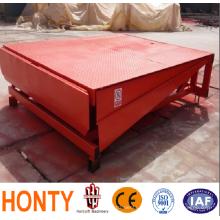 Nivelador de rampa de patio / muelle de carga estacionario de 6 T nivelador