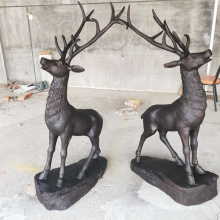 China supplier wholesale life size bronze deer statue